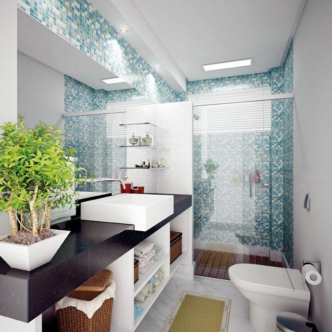 9 Modelos de Banheiros modernos e baratos Pesquisa e Merlin