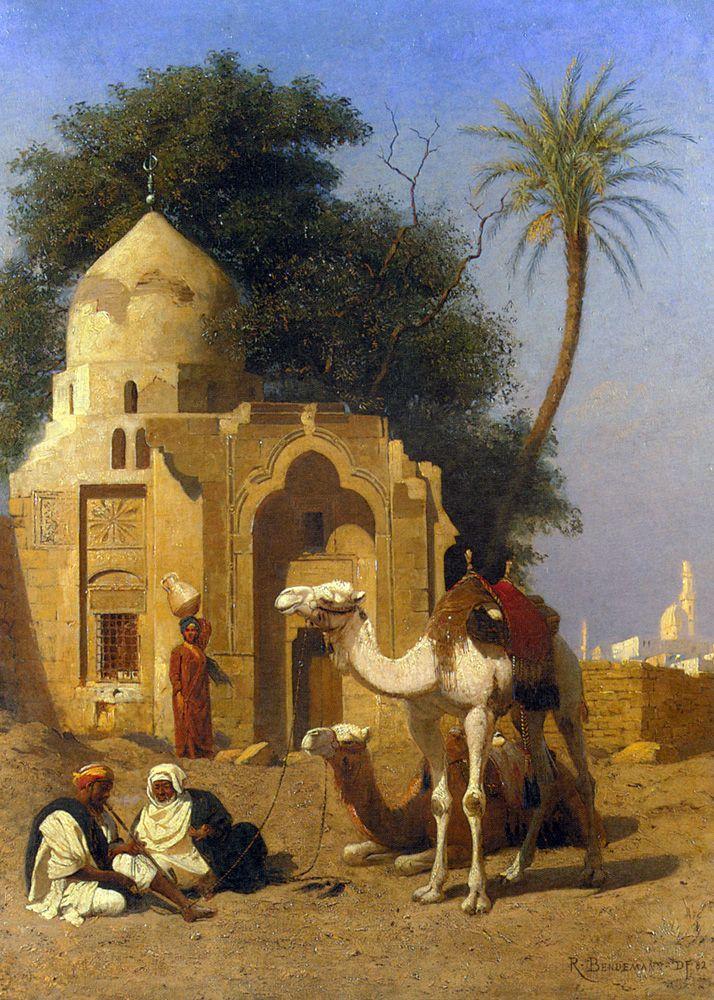 Rudolf Christian Eugen Bendemann, A Rest Outside the Mosque