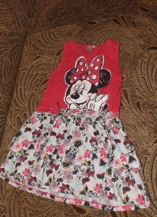 Kup mój przedmiot na #vintedpl http://www.vinted.pl/odziez-dziecieca/sukienki/12332776-rozowa-sukienka-z-myszka-minnie-5-6lat-110cm-116cm