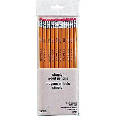 Staples® Lead Pencils, #2 HB, 10/Pack