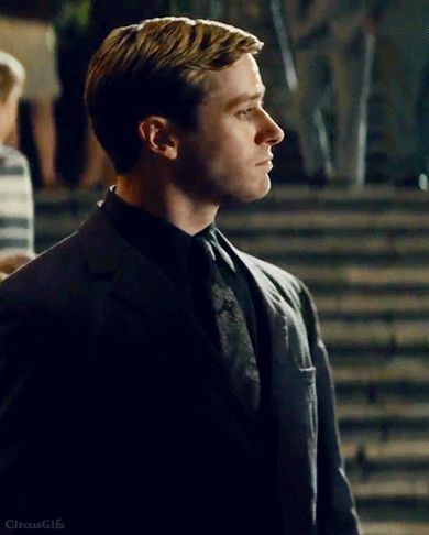 Armie Hammer - The Man From U.N.C.L.E. He's so funny when he gets angry :D