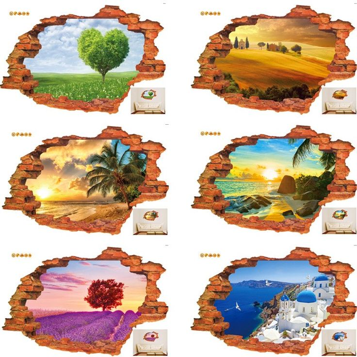 Hot-style-popular-3D-stereo-scenery-stickers-creative-personality-stickers-manufacturers-wholesale-PVC-white-film-wall