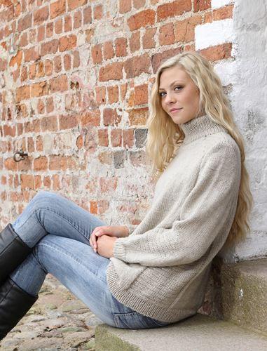 <p>Flot varm blød strikket sweater i ribber. Denne smukke sweater er strikket i Mayfloer Easy Care Big, 100 % ren