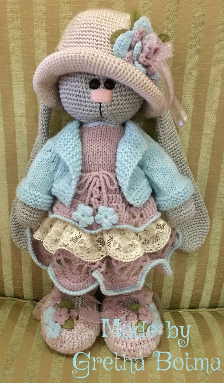 Bunny pattern by Irina Tarasova. Dress pattern combination of designer's and my own. All other garments my own patterns. Made by Gretha Botma