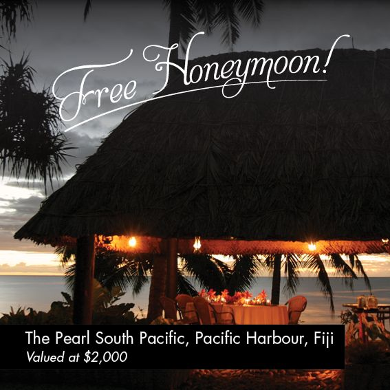 Amazing location for a Honeymoon in Fiji, for July and August 2013, when you purchase an engagement and/or wedding ring