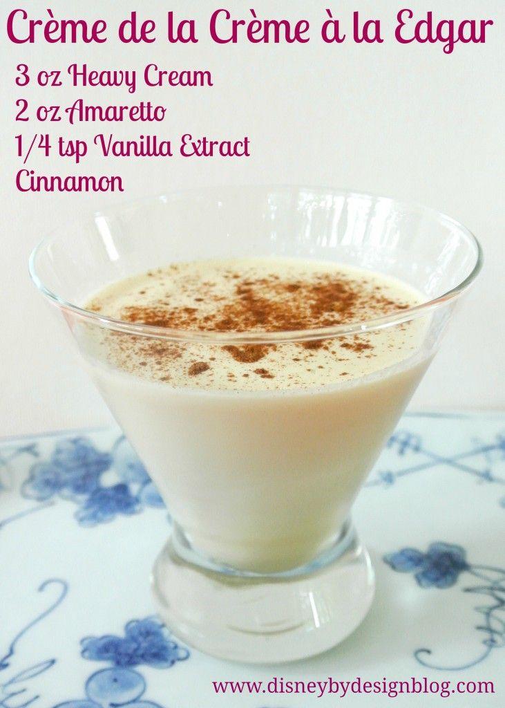Enjoy this Crème de la Crème à la Edgar cocktail the next time you watch The Aristocats!
