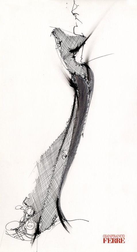 fashion illustration - Gianfranco Ferré