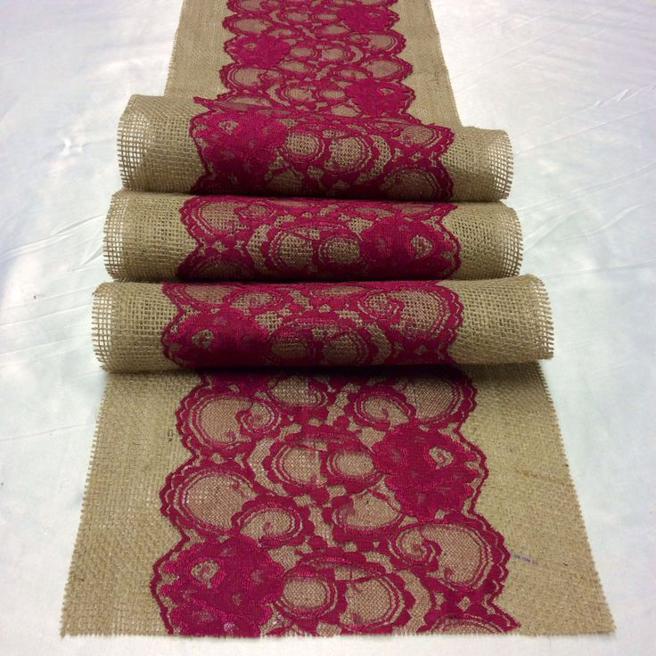 Burgundy Lace Table Runners | Request a custom order and have something made just for you.