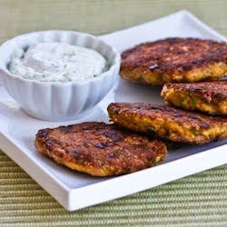 Recipe for Salmon Patties [from KalynsKitchen.com]