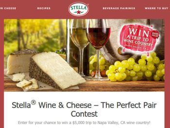 "The Saputo Cheese USA Inc. Stella ""Wine & Cheese = The Perfect Pair"" Sweepstakes"
