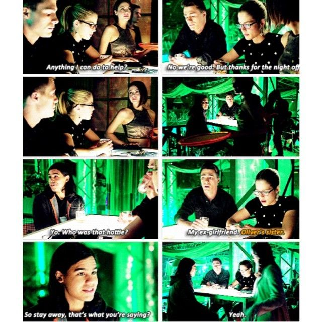 "Roy, Felicity and Cisco (Flash Cast) - ""So stay away, that's what you're saying?"" #ArrowFlashCrossover"