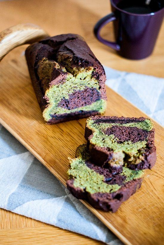 Cake marbré thé vert matcha & chocolat - liliebakery.fr
