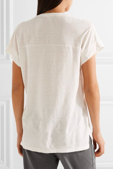 James Perse - Cotton And Linen-blend T-shirt - Off-white - 1