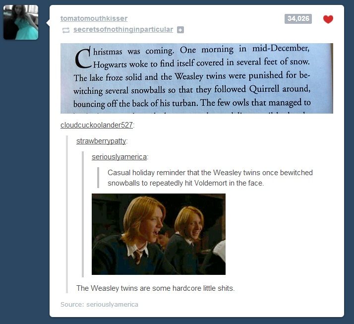The Weasley twins are some hardcore little shits XD