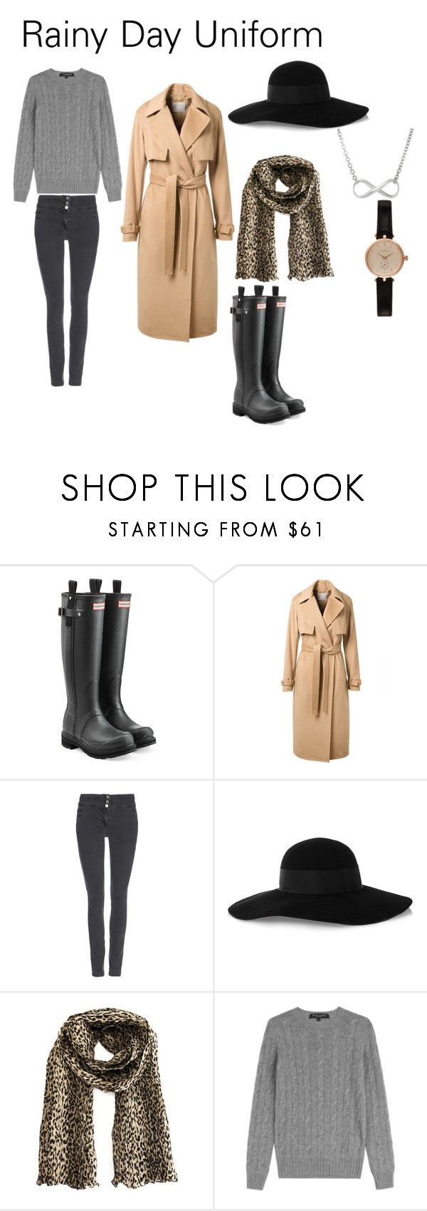 Rainy Day Uniform by ve-safarova on Polyvore featuring Ralph Lauren Black Label, Jason Wu, Wallis, Hunter, Barbour, Yves Saint Laurent and Eugenia Kim