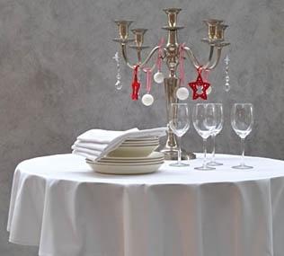 Tafellaken damast wit, Designklassieker   Damask Table cloth White  Cottona.com