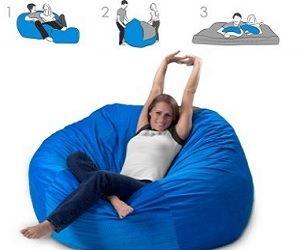 convertible bean bag bed