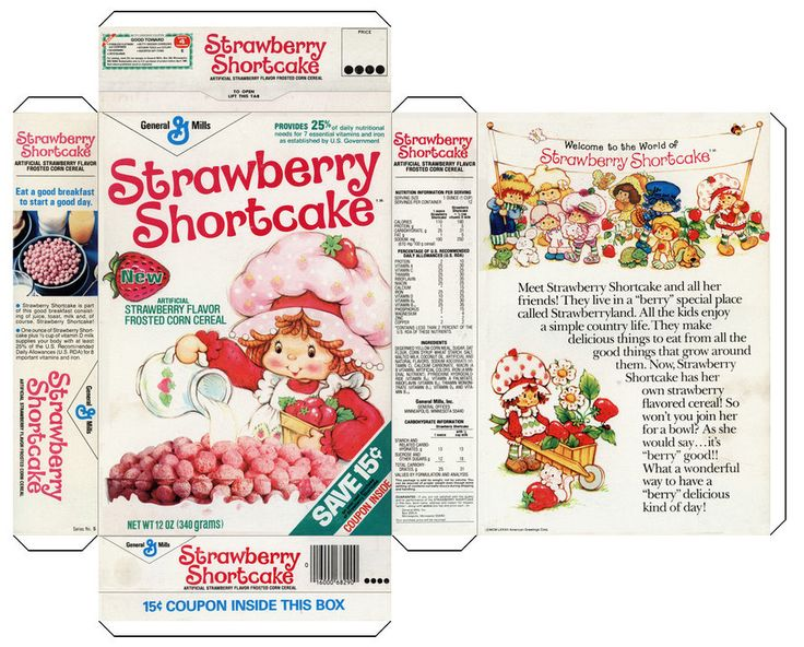 Image detail for -STRAWBERRY SHORTCAKES CEREAL BOX ...