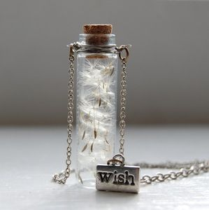 Dandelion Wish Necklace. So cool! Always loved these...and my girls too they cant pass up a wish whenever they see one