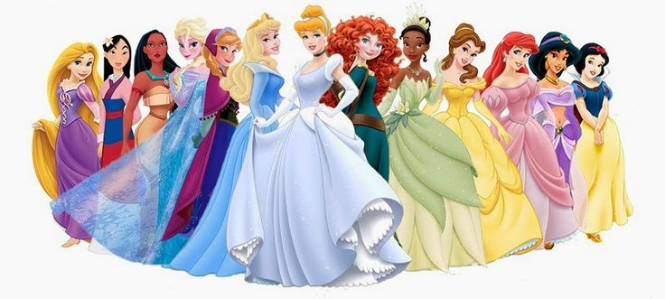 Okay, I love this image because Cinderella's dress is the right color and Aurora is in blue.
