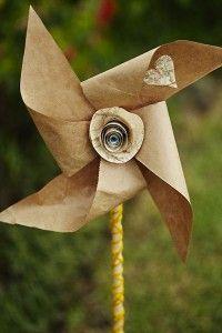 Kraft Paper Pinwheel