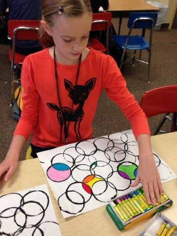 our awesome art project using cups, black paint and oil pastels! Simple art project!