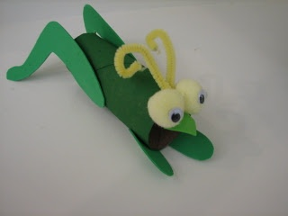 our cricket we made to go along with Eric Carle - The Very Quiet Cricket