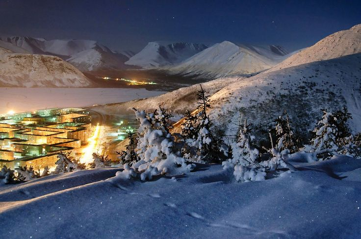 Зимний Кировск, горы Хибины, Мурманская область