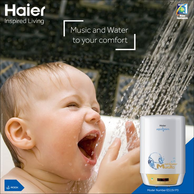#Haier's #WaterHeater brings you close to your favourite #music during relaxing showers. #Lifestyle #Technology #Appliances #HaierIndia #InspiredLiving