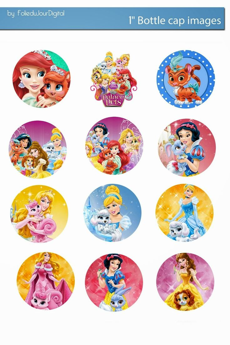 Free Bottle Cap Images: Disney Palace pets and princess free digital bottl...