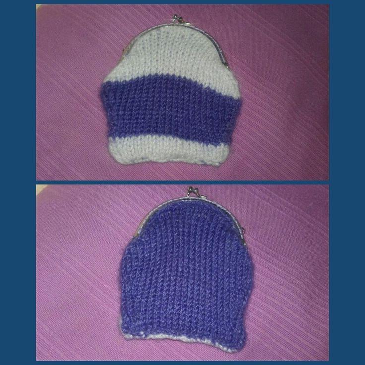 Mi primera bolsa monedero // My first knitted purse