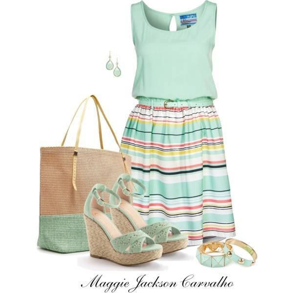 Mint Dress Outfit Idea for Summer