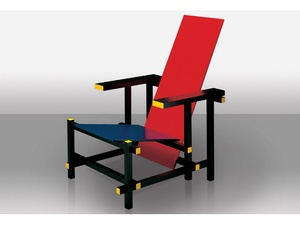 Cassina - 634+635 Red and blue