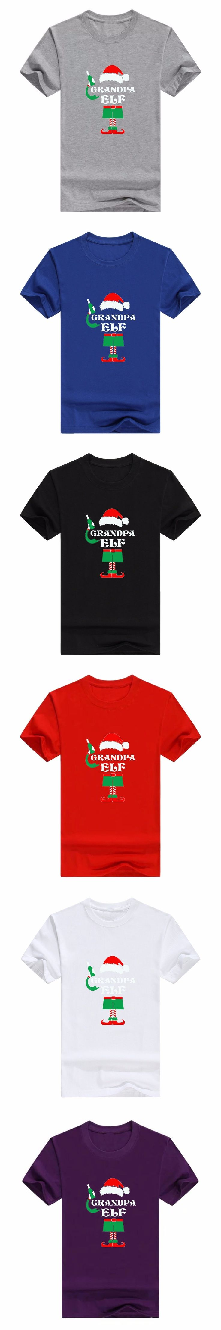 boy tshirt,o-neck T-shirt,o-neck men's shirt,2018,Grandpa Elf Sweatshirt Elf Christmas Sweater Ugly Christmas Elfv men's t-shirt