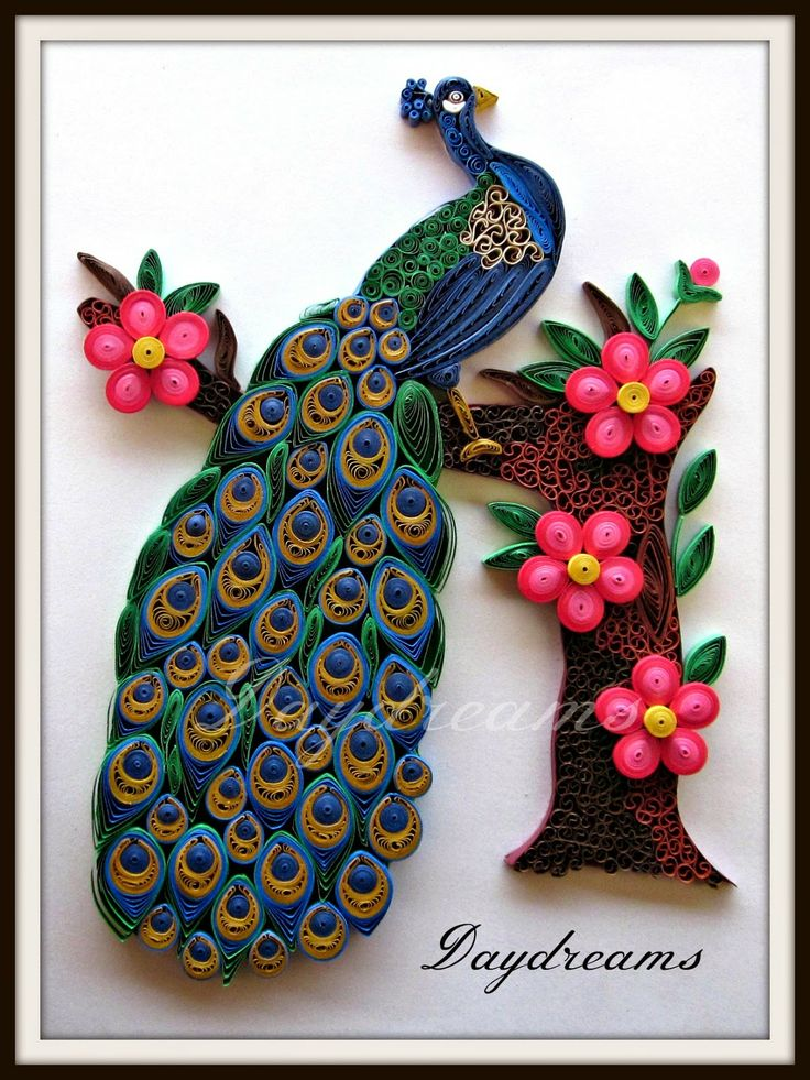 467 best peacock quilled images on pinterest for Best quilling designs