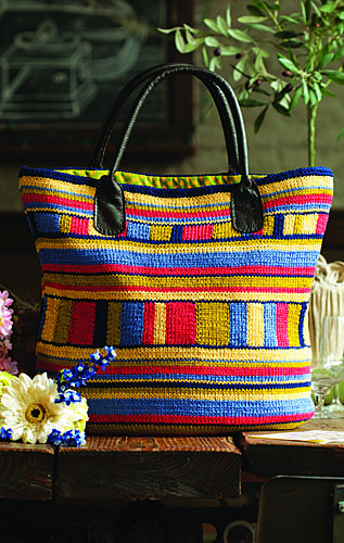 Ravelry: #16 Multistripe Tote pattern by Alex Capshaw-Taylor