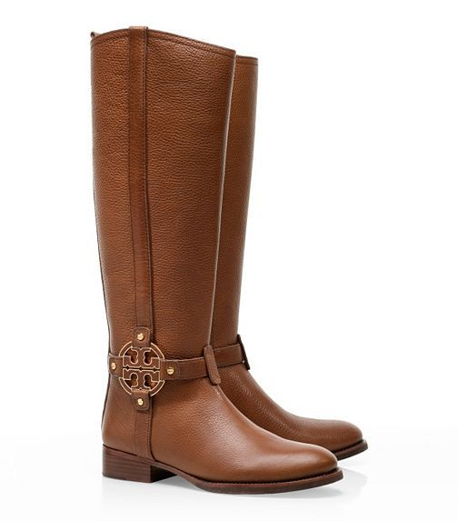 Riding Boots are so in this fall, and Tory Burch has every style you could veer want! Shown: Amanda Riding Boot, $495, on sale now for $395