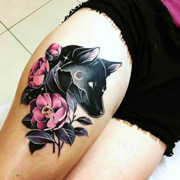 Small Wolf Tattoos For Women Tattoosforwomensmall Wolf Tattoos For Women Small Wolf Tattoo Wolf Tattoos