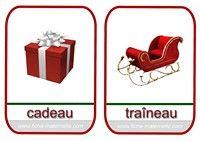 imagier de Noël traîneau et cadeau