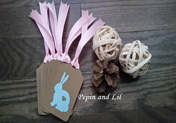 Easter Bunny with Heart Easter Bunny Gift Tags Easter Tags