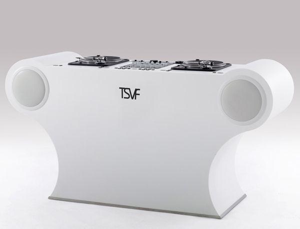 Dj Setup Dj Pro by The Sound Vision Furniture. #djculture #djgear #djtools http://www.pinterest.com/TheHitman14/dj-culture-vinyl-fantasy/