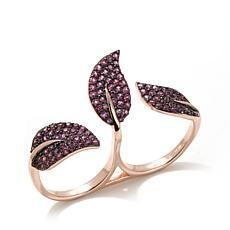 Rarities Rhodolite Leaf 2-Finger Rose Vermeil Ring Price: USD 169.9 | UnitedStates