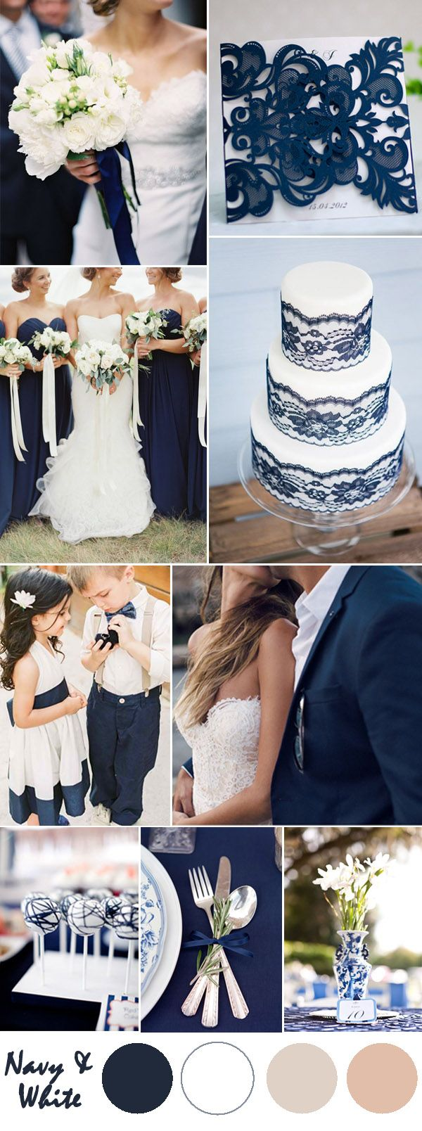 Ten Most Gorgeous Navy Blue Wedding Color Ideas