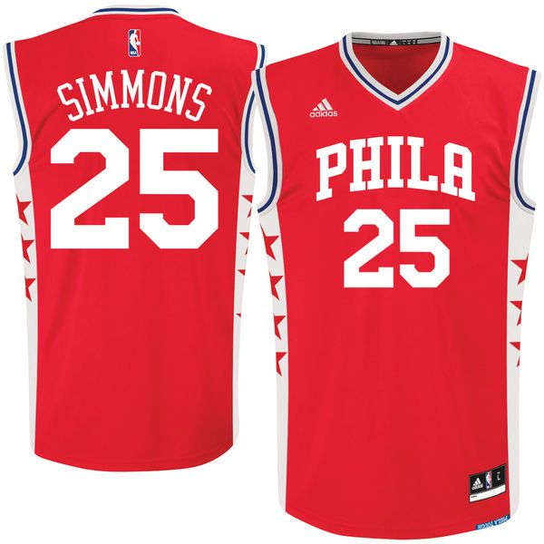 05c30167c9b ... Ben Simmons Philadelphia 76ers adidas Alternate Jersey - Red - 55.99  Mens 2016 NBA Draft ...
