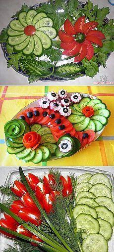Оформление овощной нарезки!