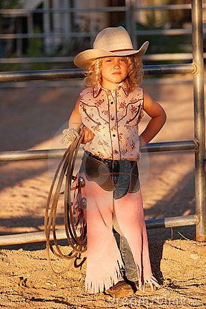 Adorable little cowgirl. by Sophie Davis, via Dreamstime