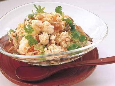[くずし豆腐とザーサイの辛みあえ] 料理レシピ みんなのきょうの料理