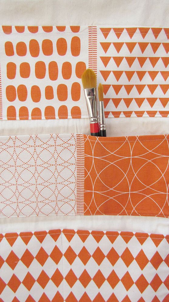 bolsillero estampado a mano / hand made screen printed organizer