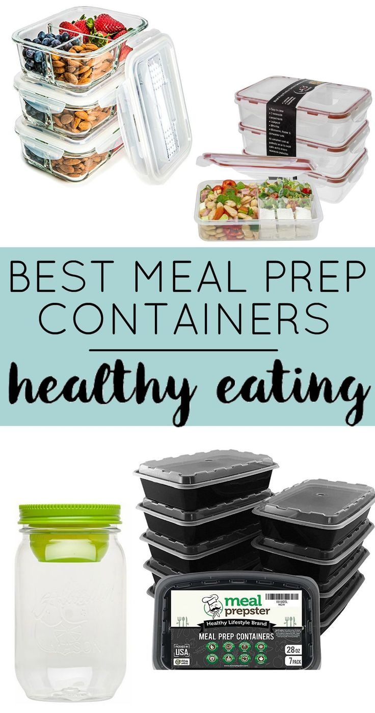 Best Containers for Meal Prep - These food storage containers make meal prep for beginners so much easier! Super easy to portion control your healthy meals for weight loss.