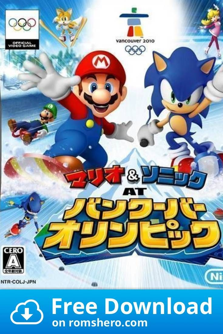 Download Mario Sonic At Vancouver Olympic Jp Bahamut Nintendo Ds Nds Rom Nintendo Ds Sonic Mario